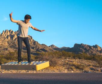 Разработан очередной летающий скейтборд