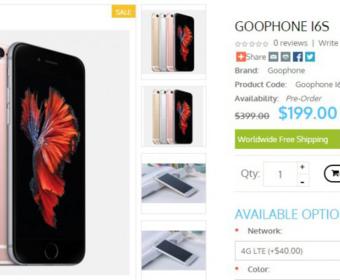 GooPhone i6S – 100% идентичная копия iPhone 6S