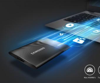 Samsung представила новые переносные жесткие диски, оснащенные кабелем с разъемом USB Type-C