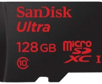 SanDisk представила первую карту памяти 128GB MicroSD