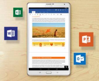 На новый планшет от Samsung будут установлены приложения Microsoft