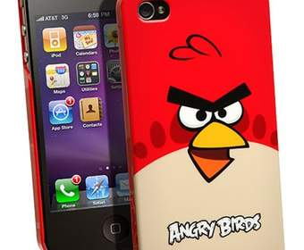 Angry Birds и чехол для iPhone 4