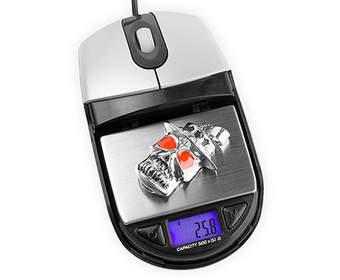 Оптическая мышь USB Brando, удваивается как цифровая шкала