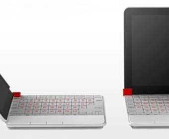 Концепт квадратного субноутбука Fujitsu, раскрывающийся по горизонтали и вертикали