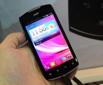 Acer продемонстрировала смартфон Liquid Glow E330