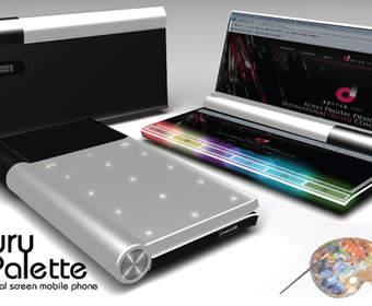 Luxury Palette: концепт гибрида сенсорного мини-ноутбука и телефона