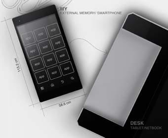 Концепт MyDesk: гибрид смартфона, планшета и нетбука
