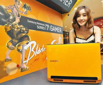 Желтый ноутбук Samsung Series 7 700G7