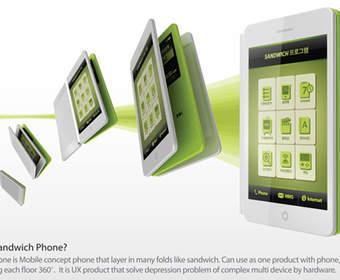 The Sandwich: концепт смартфона-книжки с тремя страницами