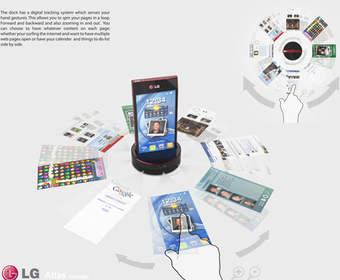 LG Atlas —концепт смартфона с интерактивной док-станцией
