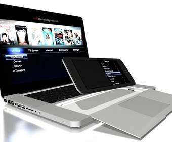 Прототип ноутбука Magic MacBook Pro и пульт iRemote