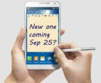 Samsung Galaxy Note 4 появится в продаже 25 сентября