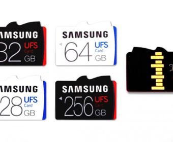 Samsung представила новый стандарт карт памяти – UFS, который в пять раз быстрее MicroSD