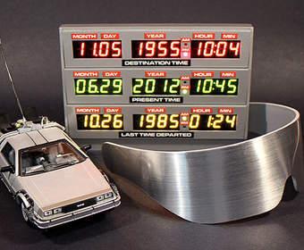 Назад в будущее с часами Adafruit Time Circuit Clock