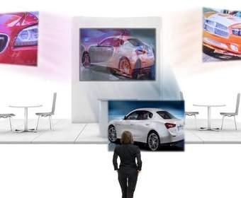 Этот экран проектора позволяет вам смотреть два (или более) видеоролика одновременно