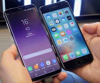 Несколько возможностей смартфона Samsung Galaxy S8, которых нет в iPhone X