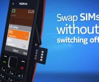 Музыкальный дамбфон Nokia X2-02 на две sim-карты